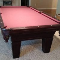 Fischer Pool Table, 2 Chairs, 6 Pool Sticks And Accessories